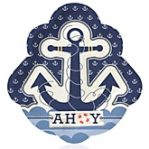 Ahoy - Nautical - Baby Shower Dinner Plates - 8 ct