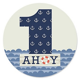 1st Birthday Ahoy - Nautical - First Birthday Party Theme