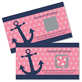 Ahoy - Nautical Girl - Party Game Scratch Off Cards - 22 ct