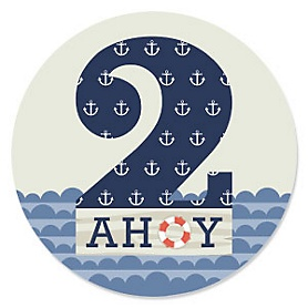 2nd Birthday - Ahoy - Nautical Second Birthday Party Theme