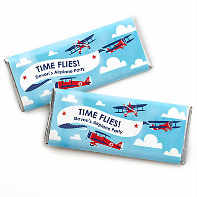 Taking Flight - Airplane - Personalized Candy Bar Wrapper Vintage ...