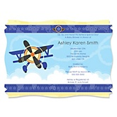 Airplane - Personalized Baby Shower Invitations
