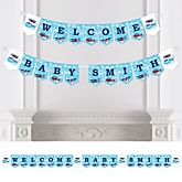 Airplane - Personalized Baby Shower Bunting Banner