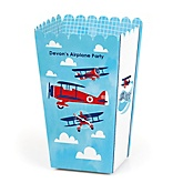 Airplane - Personalized Party Popcorn Favor Treat Boxes