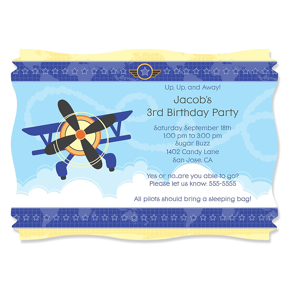 Amazing Planes Birthday Party Invitations Collection - Invitation ...