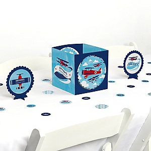 Airplane - Party Centerpiece & Table Decoration Kit
