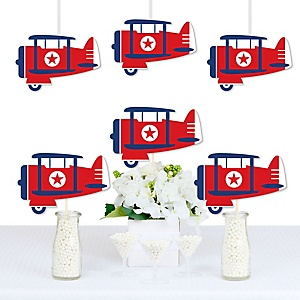 Taking Flight - Airplane - Decorations DIY Vintage Plane Baby Shower or Birthday Party Essentials - Set of 20