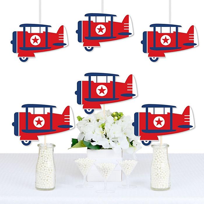 Taking Flight - Airplane - Decorations DIY Vintage Plane Baby Shower or Birthday Party Essentials - Set of 20