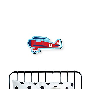Taking Flight - Airplane - Vintage Plane Baby Boy Nursery and Kids Room Home Decorations - Shaped Wall Art - 1 Piece