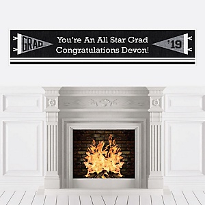 All Star Grad - Personalized 2019 Graduation Banner
