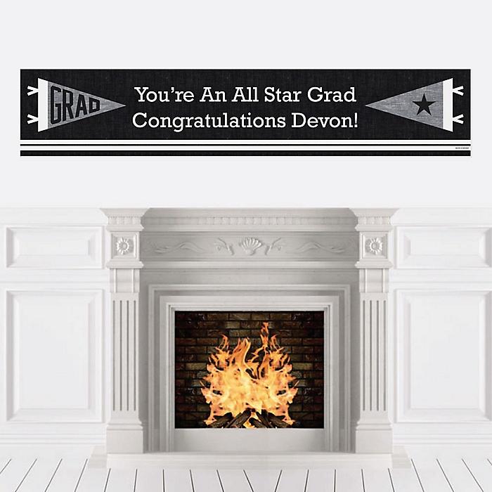 All Star Grad - Personalized Graduation Banner