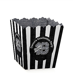 All Star Grad - Party Mini Favor Boxes - Personalized 2019 Graduation Treat Candy Boxes - Set of 12