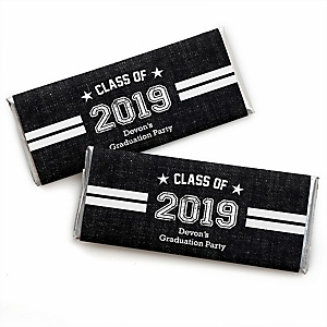 All Star Grad - Personalized Candy Bar Wrappers 2019 Graduation Party Favors - Set of 24