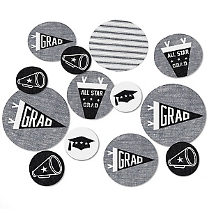 All Star Grad - Graduation Party Giant Circle Confetti - Graduation Party Decorations - Large Confetti 27 Count