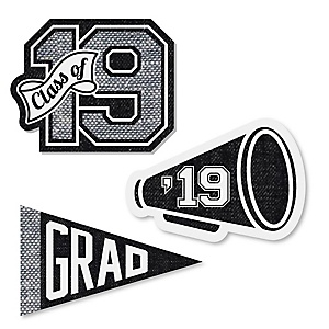 All Star Grad - DIY Shaped 2019 Graduation Party Paper Cut-Outs - 24 ct