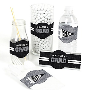 All Star Grad - DIY Graduation Party Wrapper - 15 ct