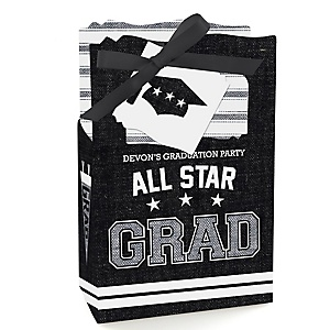 All Star Grad - Personalized Graduation Favor Boxes - Set of 12