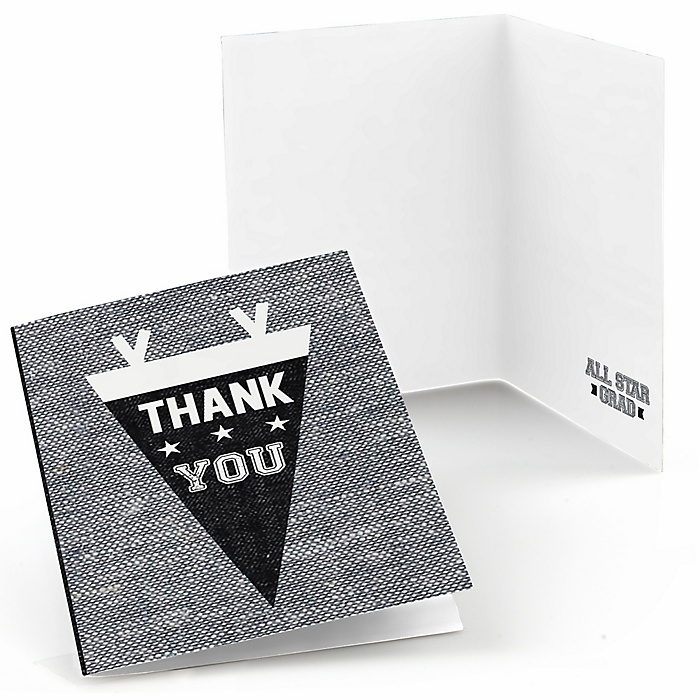 All Star Grad - Graduation Party Thank You Cards - 8 ct