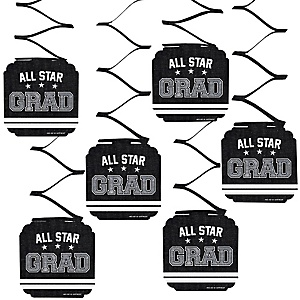 All Star Grad - Graduation Party Hanging Decorations - 6 ct
