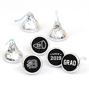 All Star Grad - Round Candy Labels 2019 Graduation Party Favors - Fits Hershey's Kisses 108 ct