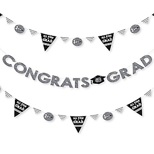 All Star Grad - 2019 Graduation Party Letter Banner Decoration - 36 Banner Cutouts and Congrats Grad Banner Letters