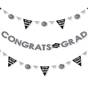 All Star Grad - Graduation Party Letter Banner Decoration - 36 Banner Cutouts and Congrats Grad Banner Letters
