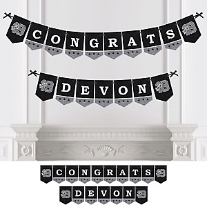 All Star Grad - Personalized 2019 Graduation Party Bunting Banner & Decorations