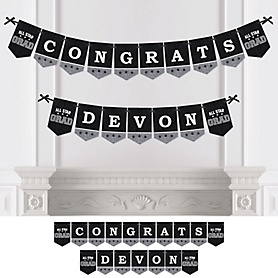 All Star Grad - Personalized Graduation Party Bunting Banner & Decorations
