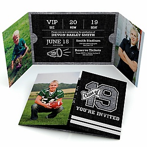 All Star Grad - Personalized Photo Graduation Invitations - Set of 12