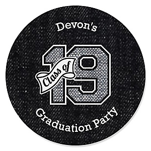 All Star Grad - Personalized 2019 Graduation Sticker Labels - 24 ct