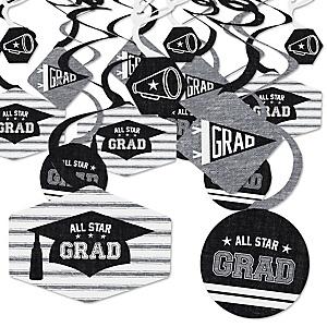 All Star Grad - Graduation Party Hanging Decor - Party Decoration Swirls - Set of 40