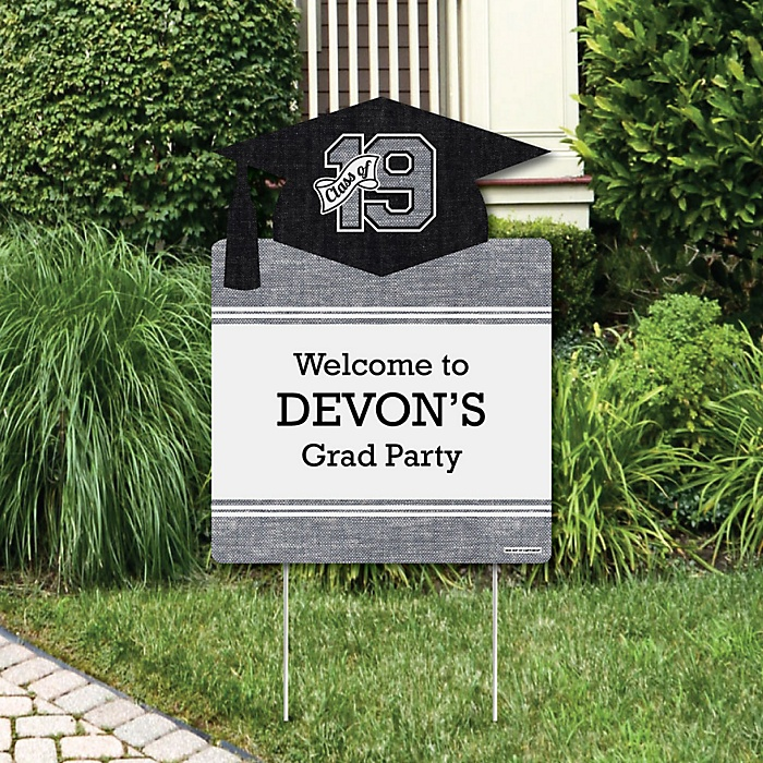 All Star Grad - Party Decorations - 2019 Graduation Party Personalized Welcome Yard Sign