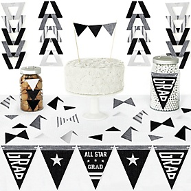 All Star Grad - DIY Pennant Banner Decorations - Graduation Party Triangle Kit - 99 Pieces