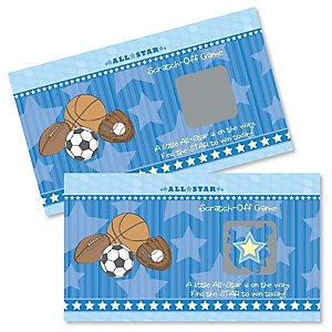 All Star Sports - Baby Shower Game Scratch Off Cards - 22 ct