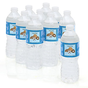 All Star Sports - Personalized Party Water Bottle Sticker Labels - Set of 10