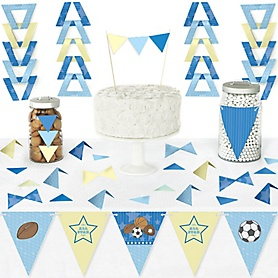 All Star Sports - DIY Pennant Banner Decorations - Baby Shower or Birthday Party Triangle Kit - 99 Pieces