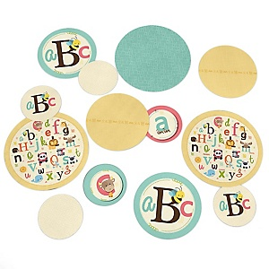 A is for Alphabet - ABC Baby Shower or Birthday Party Table Confetti - 27 ct