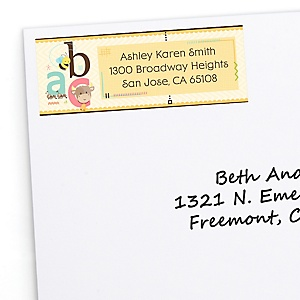 A is for Alphabet - Personalized Baby Shower Return Address Labels - 30 ct
