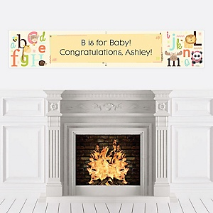 A is for Alphabet - Personalized Baby Shower Banners