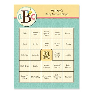 A is for Alphabet - Bingo Personalized Baby Shower Games - 16 Count