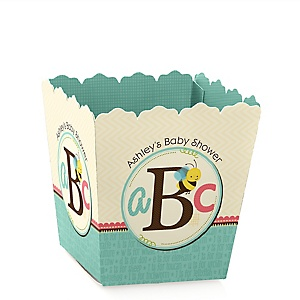A is for Alphabet - Party Mini Favor Boxes - Personalized Baby Shower Treat Candy Boxes - Set of 12