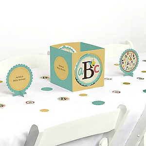 A is for Alphabet - Baby Shower Centerpiece & Table Decoration Kit