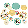 A is for Alphabet - Personalized ABC Baby Shower Table Confetti - 27 ct