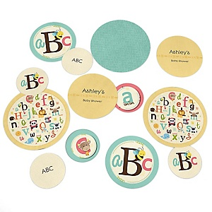 A is for Alphabet - Personalized Baby Shower Table Confetti - 27 ct