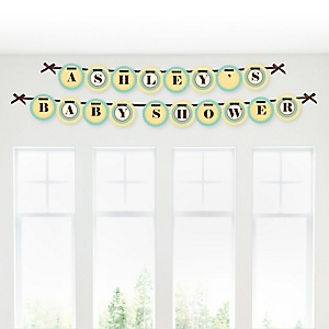 A is for Alphabet - Personalized Baby Shower Garland Letter Banners