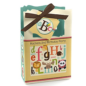 A is for Alphabet - Personalized Birthday Party Favor Boxes - Set of 12