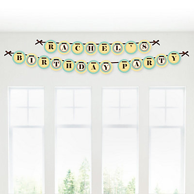 Alphabet Personalized Birthday Party Garland Letter Banner