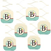 A is for Alphabet - Baby Shower Hanging Decorations - 6 ct