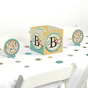 A is for Alphabet - ABC Baby Shower or Birthday Party Centerpiece and Table Decoration Kit