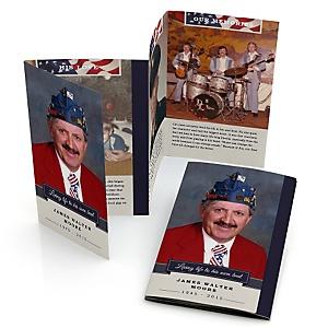 American Flag - Accordion Fold Memorial Photo Card